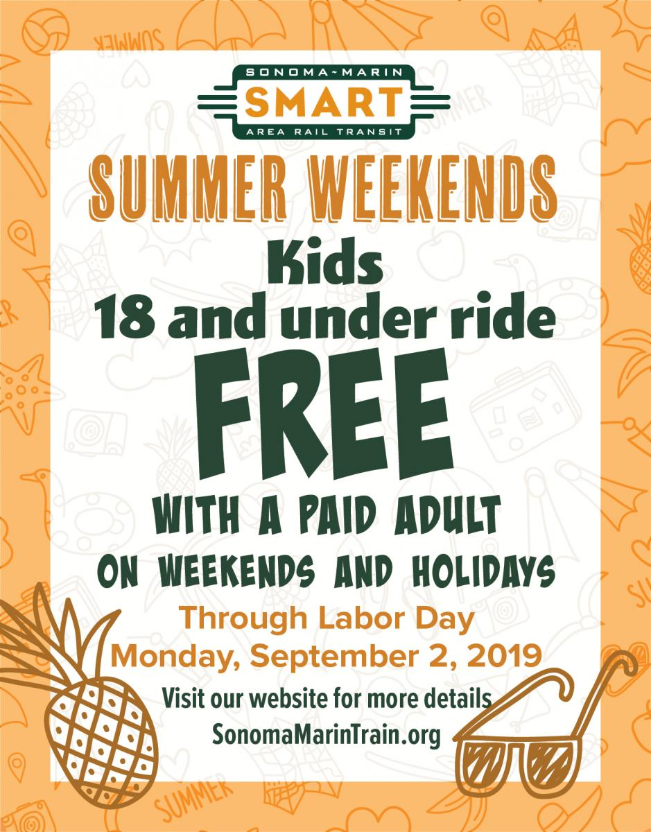 Kids Ride Free on Weekends and Holidays This Summer | Sonoma-Marin
